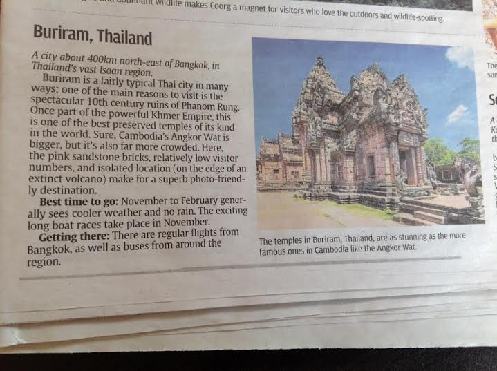 Buriram Highly Promoted by a Number of Sources