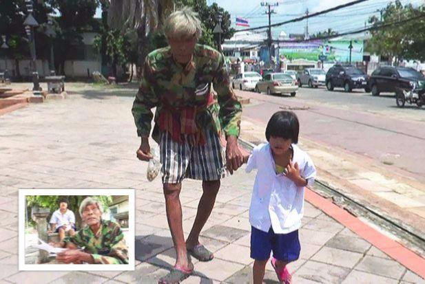 Generous Online Donors Help Buriram Grandpa and Granddaughter