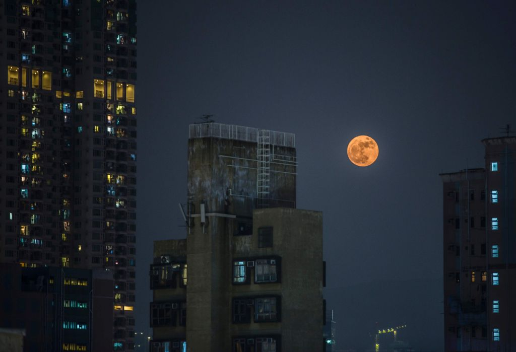 Super Moon Over Asia