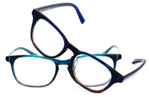 trendy eyewear hufo  Lister and Arter specs with an acetate frame