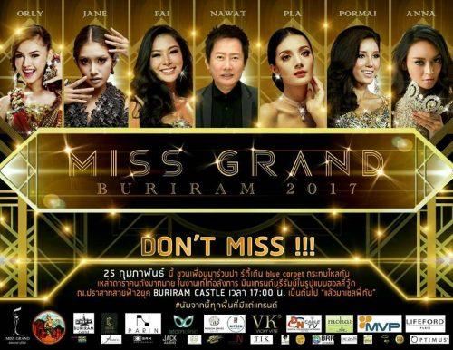 Miss Buriram Beauty Pageant Tonight At Buriram Castle