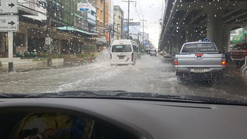 Storms Hit Bangkok And Caused Flooding At 25 Locations Around The Capital