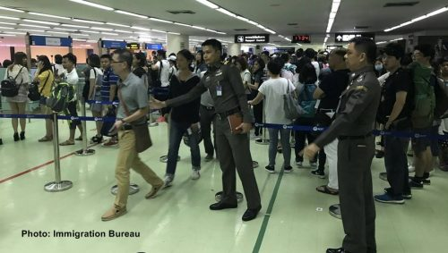 About Two Hundred Extra Immigration Officers Deployed At Bangkok Airports