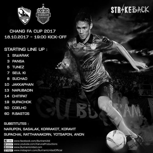 Buriram Fall To Late Goal At Chiang Rai In FA Cup But It's Not A Disaster
