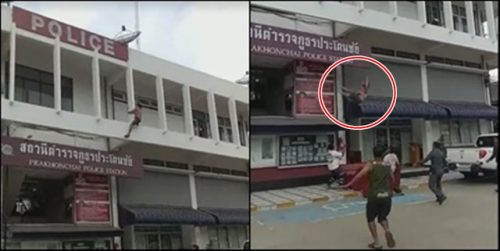 A Pat On The Back For Prakhonchai Police After Quick Thinking Saves Woman's Life