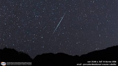 Watch Out For Shooting Stars On December 14
