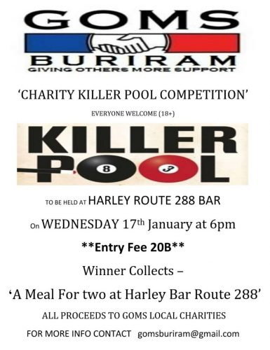 GOMS Buriram Killer Pool Reminder