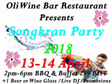 Songkran At Oli Wine Bar
