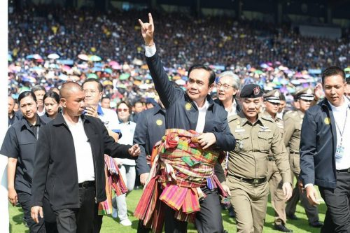 Prayut Wins Newin's Support During Visit To Buriram