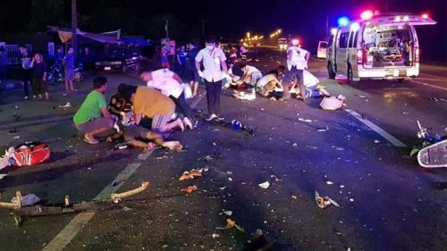 Six Dead In Buriram Motorcycle Street Racing Accident