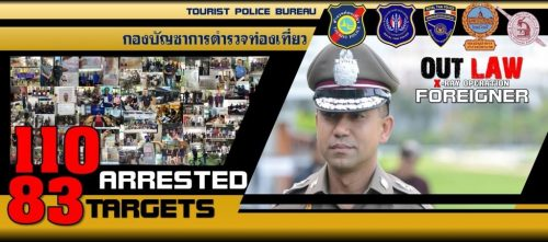 Petchaburi Brit Tops The Overstay List As 110 Arrests Are Made