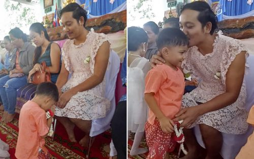 Thai Widower Dresses as a Woman to Attend Mother's Day Event at His Sons' School