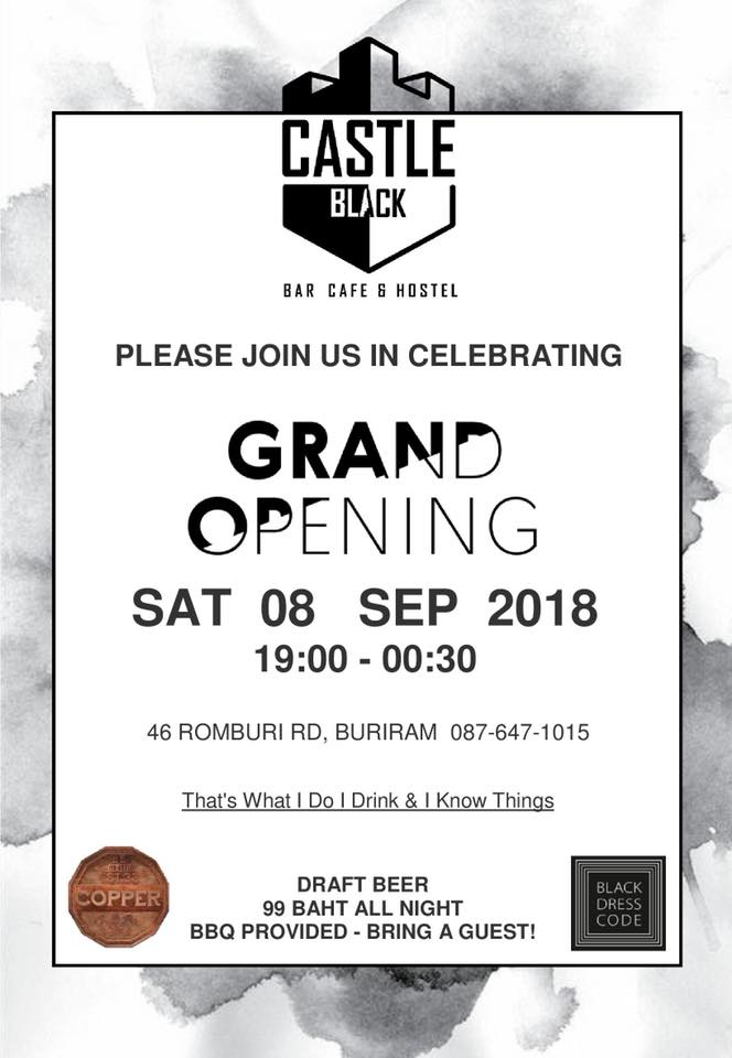 Castle Black Bar Official Opening This Saturday