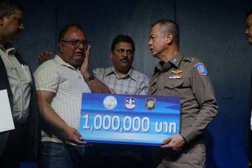 Tourist Police Chief Presents Huge Cheque To Family Of Shooting Victim