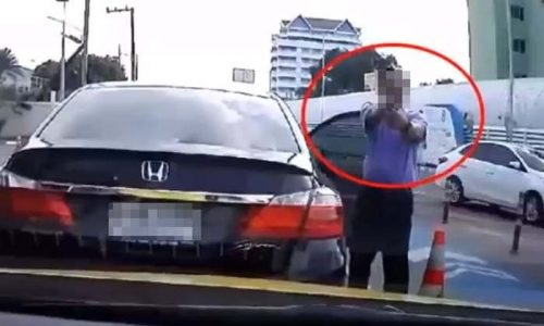 Man Who Pulled Gun On Driver In Chaengwattana Turns Out To Be Anti-Corruption Officer
