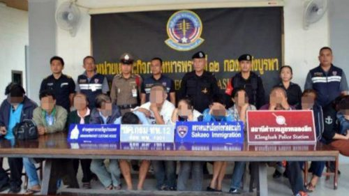 12 Thai Nationals Arrested For Trying to Enter The Kingdom Illegally Following Gambling Losses