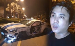 Famous Thai Motorcycle Racer Smashes Up His Mustang In Pattaya